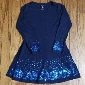 Lands End long sleeve dress with sequins sz 4